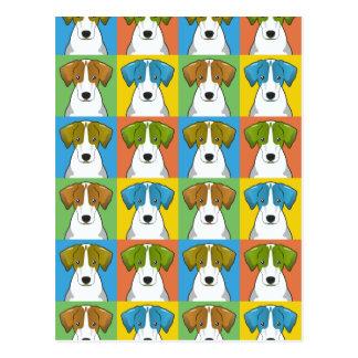 ハリアー犬の漫画の破裂音芸術 ポストカード