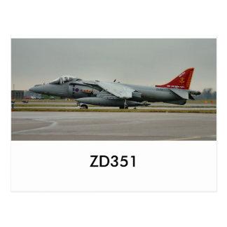 ハリアーGR9 ZD351 ポストカード