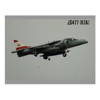ハリアーGR9 ZG477 (67A)の最後の飛行 ポストカード