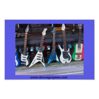 ハリウッドのギター ポスター