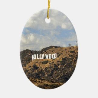 ハリウッドのクラシックな印 セラミックオーナメント