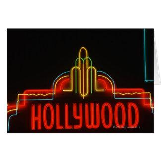 ハリウッドのネオンサイン、ロサンゼルス、カリフォルニア カード
