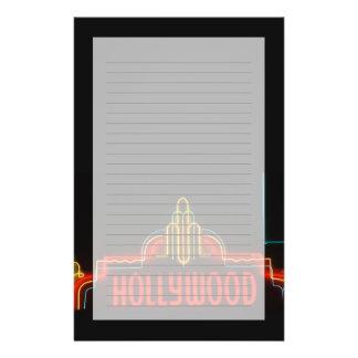 ハリウッドのネオンサイン、ロサンゼルス、カリフォルニア 便箋