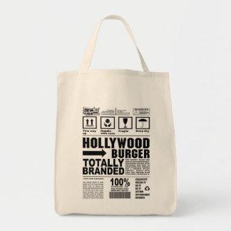 ハリウッドのハンバーガーの全く決め付けられた食料雑貨のトート トートバッグ
