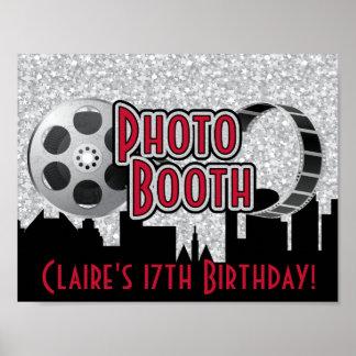 ハリウッドのパーティの写真ブースポスター ポスター