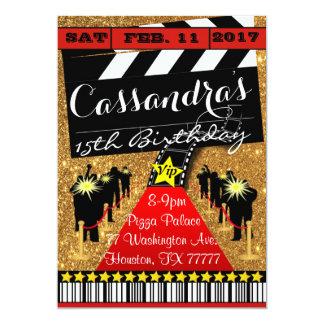 ハリウッドのパーティー、ハリウッドの誕生日の招待状 カード