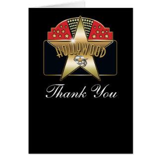 ハリウッドのヴィンテージのレトロのカスタムは折目カード感謝していしています カード