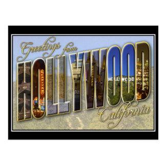 ハリウッドのヴィンテージの郵便はがき ポストカード