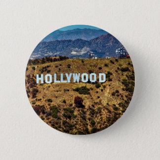 ハリウッドの印の画像的な山ロサンゼルス 5.7CM 丸型バッジ