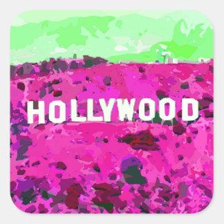ハリウッドの印ロサンゼルスカリフォルニア スクエアシール