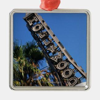 ハリウッドの印、ロサンゼルス、カリフォルニア メタルオーナメント