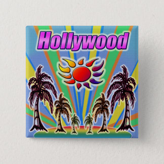 ハリウッドの夏愛ボタン 5.1CM 正方形バッジ
