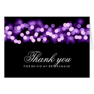 ハリウッドの紫色の魅力は新婦付添人感謝していしています カード