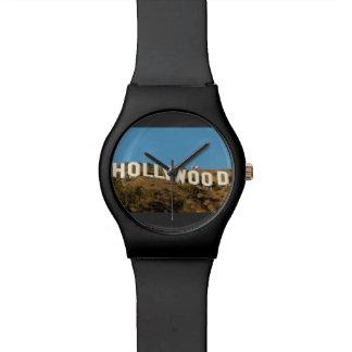 ハリウッドの腕時計の黒 腕時計