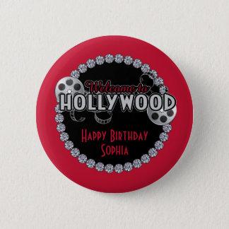 ハリウッドの誕生日ボタン 5.7CM 丸型バッジ