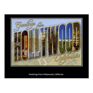 ハリウッドの郵便はがきからの挨拶 ポストカード