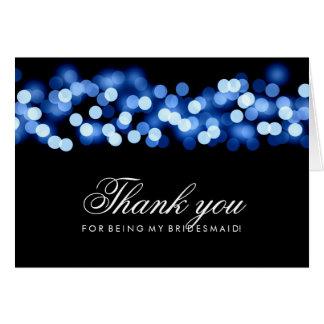 ハリウッドの青い魅力は新婦付添人感謝していしています カード