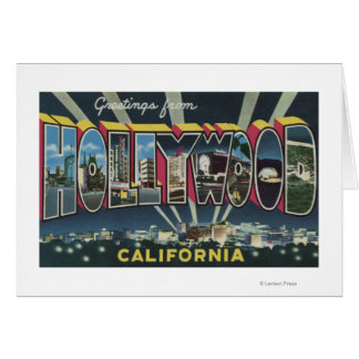ハリウッドのCaliforniaLargeの手紙場面 カード