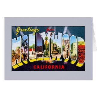 ハリウッドカリフォルニアからのヴィンテージの挨拶 カード