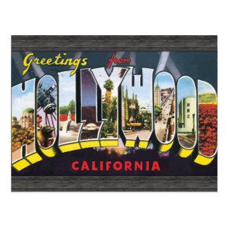 ハリウッドカリフォルニアのヴィンテージからの挨拶 ポストカード
