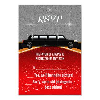 ハリウッド丁重なRSVPのテンプレート カード