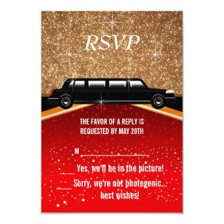 ハリウッド丁重なRSVP カード
