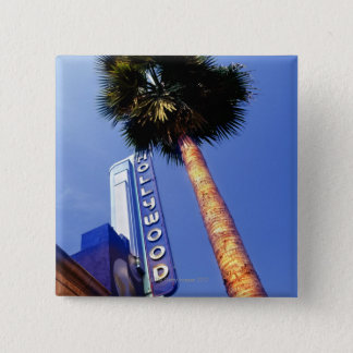 ハリウッド通り、ロサンゼルス 5.1CM 正方形バッジ