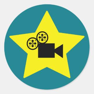 ハリウッド・スターのカメラの円形のステッカーのマット ラウンドシール