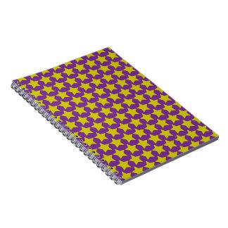 ハリウッド・スターのノート(紫色及び黄色) ノートブック
