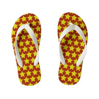 ハリウッド・スターのビーチサンダルの子供(赤及び黄色) キッズビーチサンダル