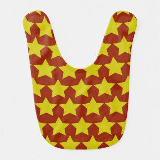 ハリウッド・スターのベビー用ビブ(赤及び黄色) ベビービブ