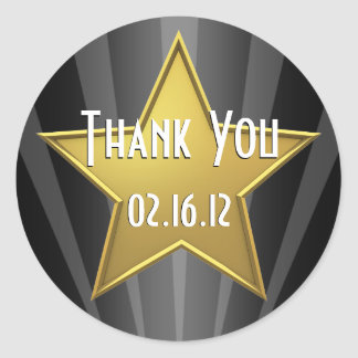 ハリウッド・スターはステッカー感謝していしています ラウンドシール