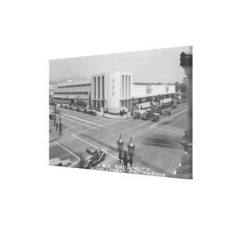ハリウッド、無線都市およびNBCのスタジオのカリフォルニアの眺め キャンバスプリント