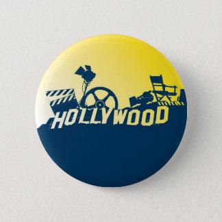 ハリウッド 5.7CM 丸型バッジ