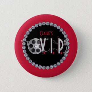 ハリウッドVIPの誕生日ボタン 5.7CM 丸型バッジ