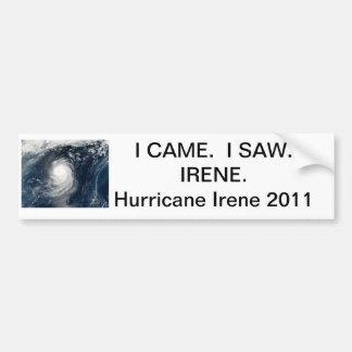 ハリケーンのアイリーンのバンパーステッカー バンパーステッカー