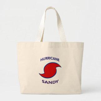 ハリケーンのサンディの記号 ラージトートバッグ