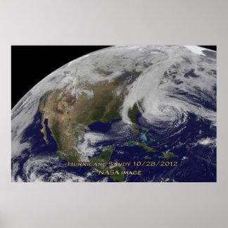 ハリケーンのサンディ60x40ポスターの衛星眺め ポスター