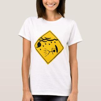 ハリケーンの天候の警告の商品および衣類 Tシャツ