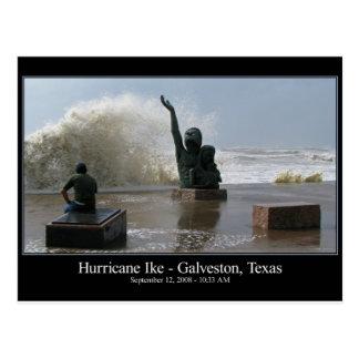 ハリケーンのIkeの郵便はがき ポストカード
