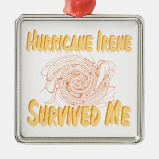 ハリケーンアイリーンは私を生き延びました メタルオーナメント