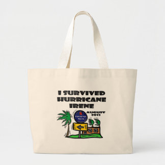 ハリケーンアイリーンを避難させて下さい ラージトートバッグ