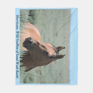 ハリケーン、砂の洗面器の野生の種馬 フリースブランケット