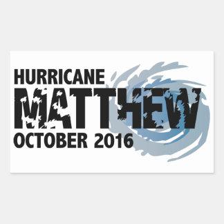 ハリケーンMatthew 2016年10月 長方形シール