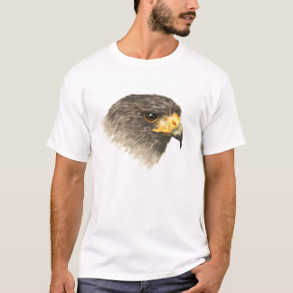 ハリスのタカ-混合メディア Tシャツ