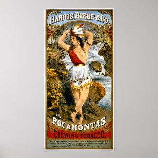 ハリス、Beebe及びCo. Pocahontasのかみ砕くタバコ ポスター