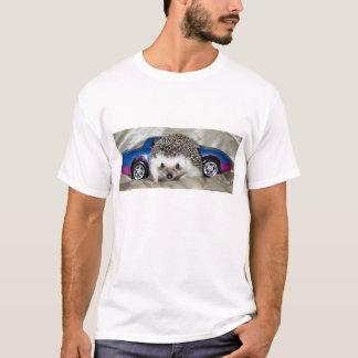 ハリネズミおよびレースカー Tシャツ