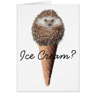 ハリネズミのアイスクリーム グリーティングカード