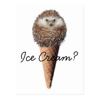 ハリネズミのアイスクリーム ポストカード