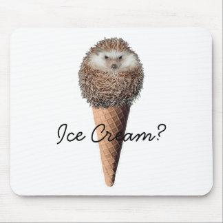 ハリネズミのアイスクリーム マウスパッド